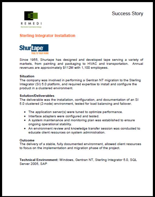 ShurTape IBM B2B Integrator Installation (PDF)