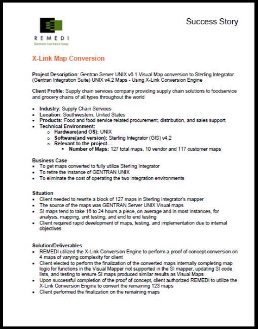 Conversion from Gentran UNIX to IBM Sterling Integrator using X-Link (PDF)