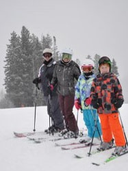 Scott skiing with family